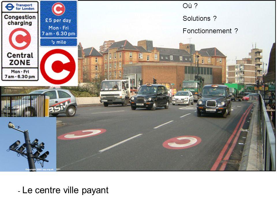 Où Solutions Fonctionnement - Le centre ville payant