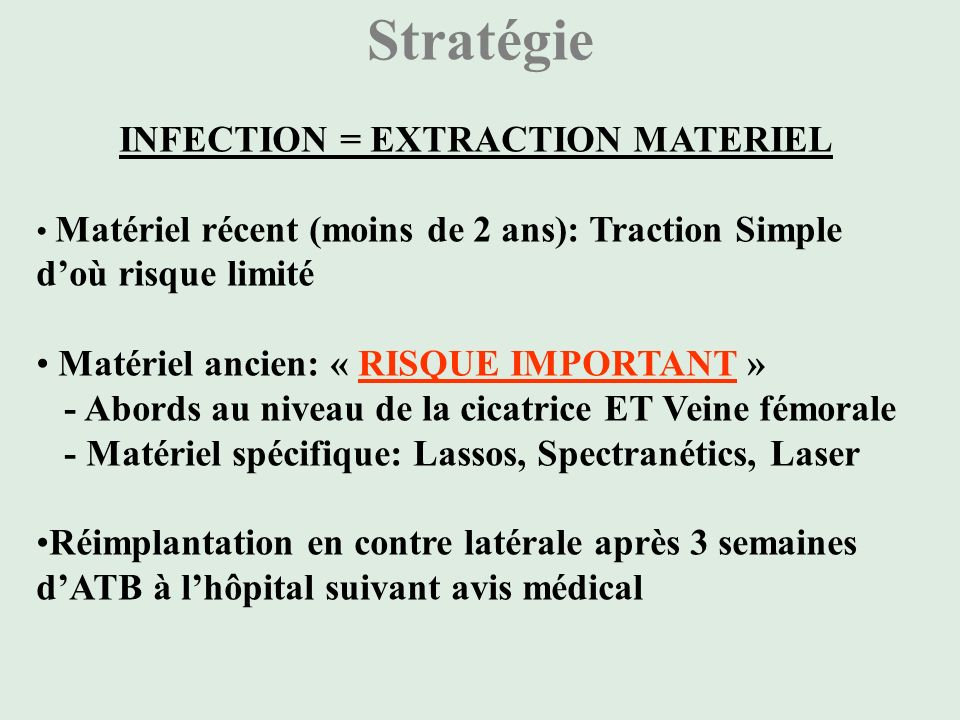 INFECTION = EXTRACTION MATERIEL