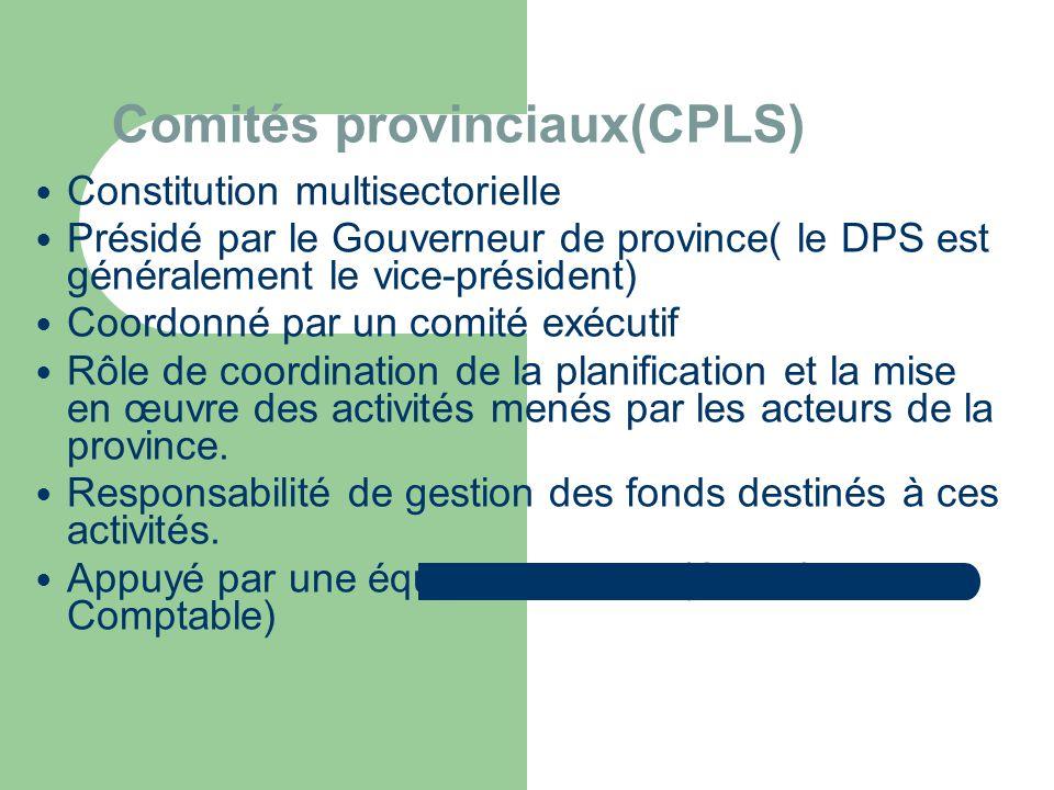 Comités provinciaux(CPLS)