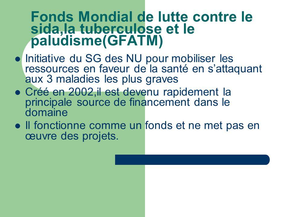 Fonds Mondial de lutte contre le sida,la tuberculose et le paludisme(GFATM)