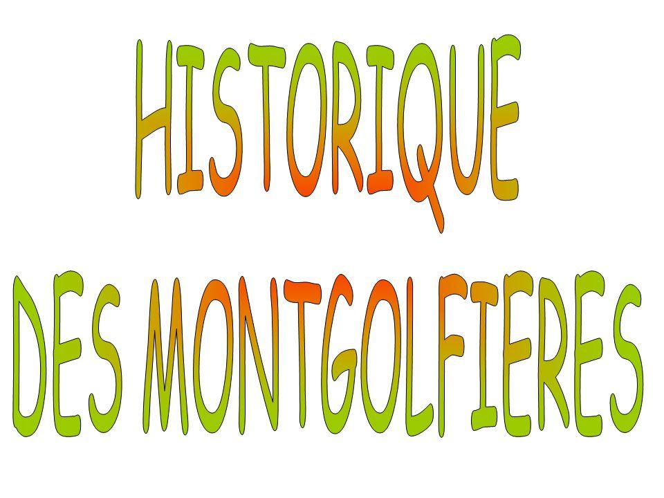 HISTORIQUE DES MONTGOLFIERES