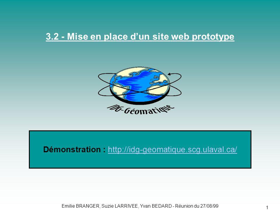 3.2 - Mise en place d'un site web prototype