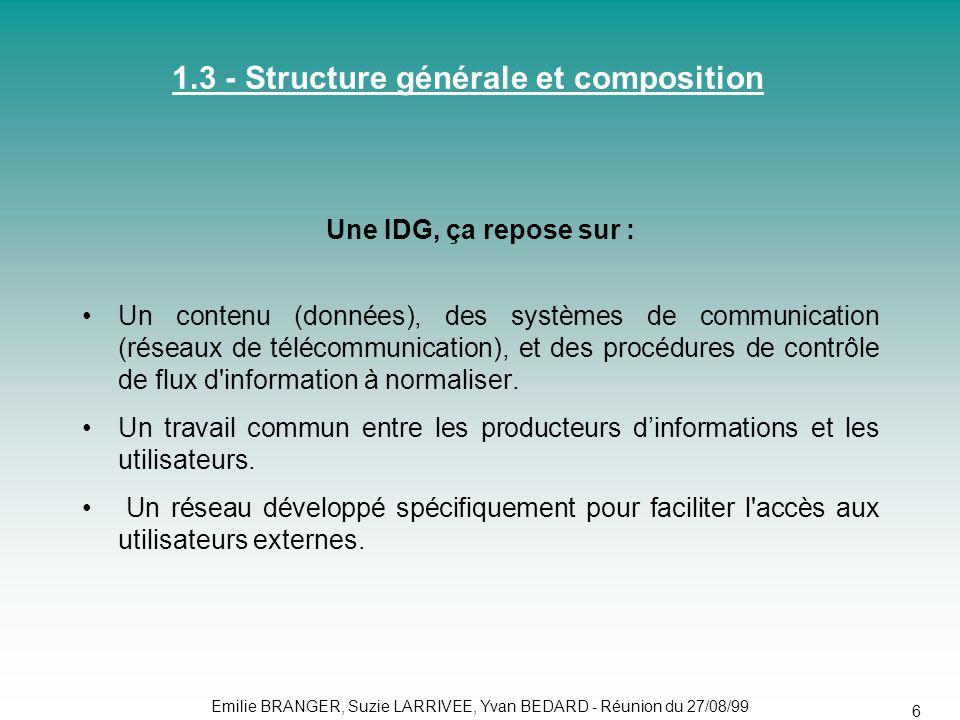 1.3 - Structure générale et composition