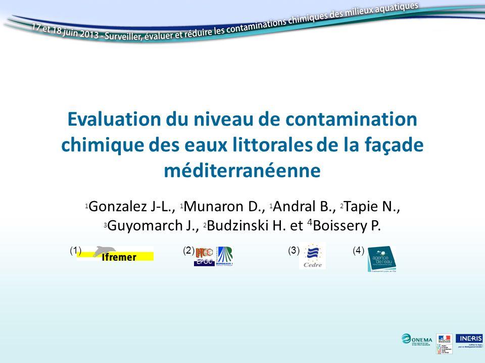 Evaluation du niveau de contamination chimique des eaux littorales de la façade méditerranéenne