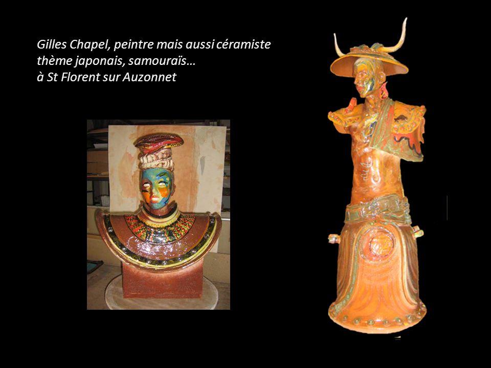 Gilles Chapel, peintre mais aussi céramiste