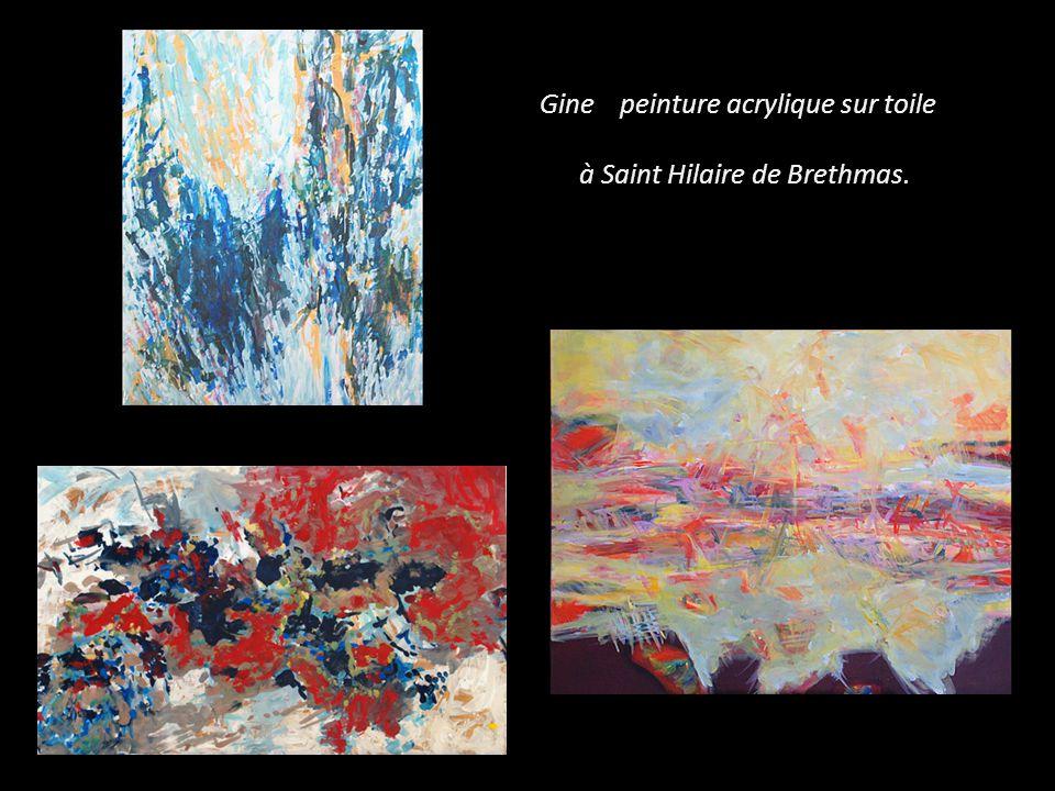 Gine peinture acrylique sur toile