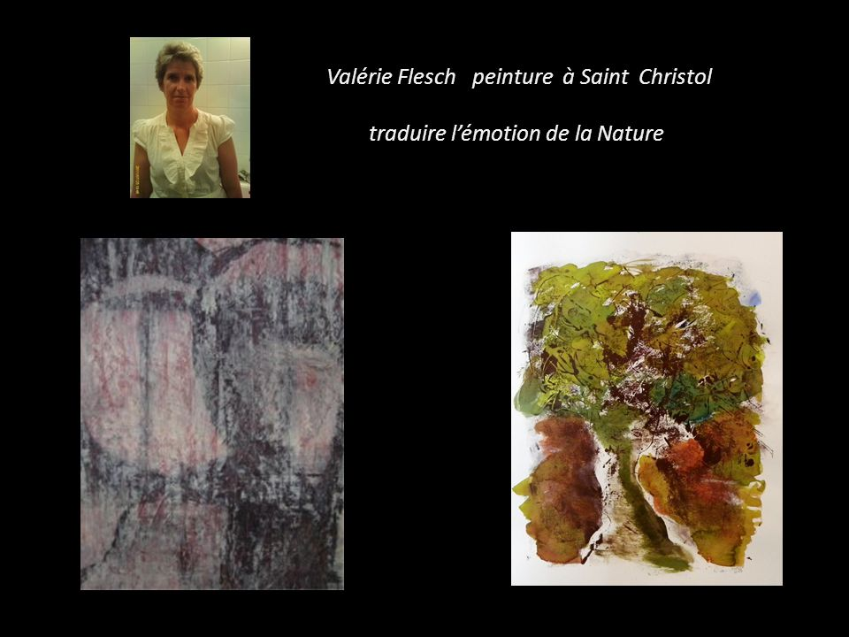 Valérie Flesch peinture à Saint Christol