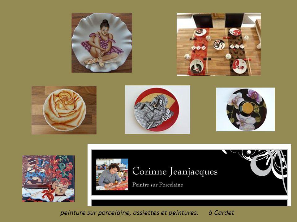 peinture sur porcelaine, assiettes et peintures. à Cardet
