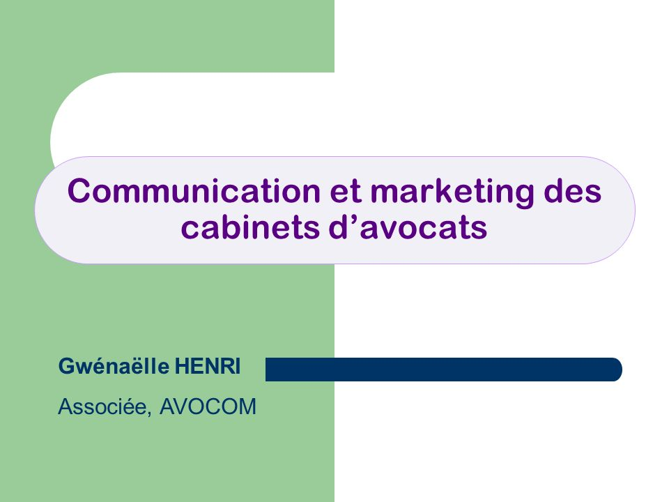 Communication et marketing des cabinets d'avocats