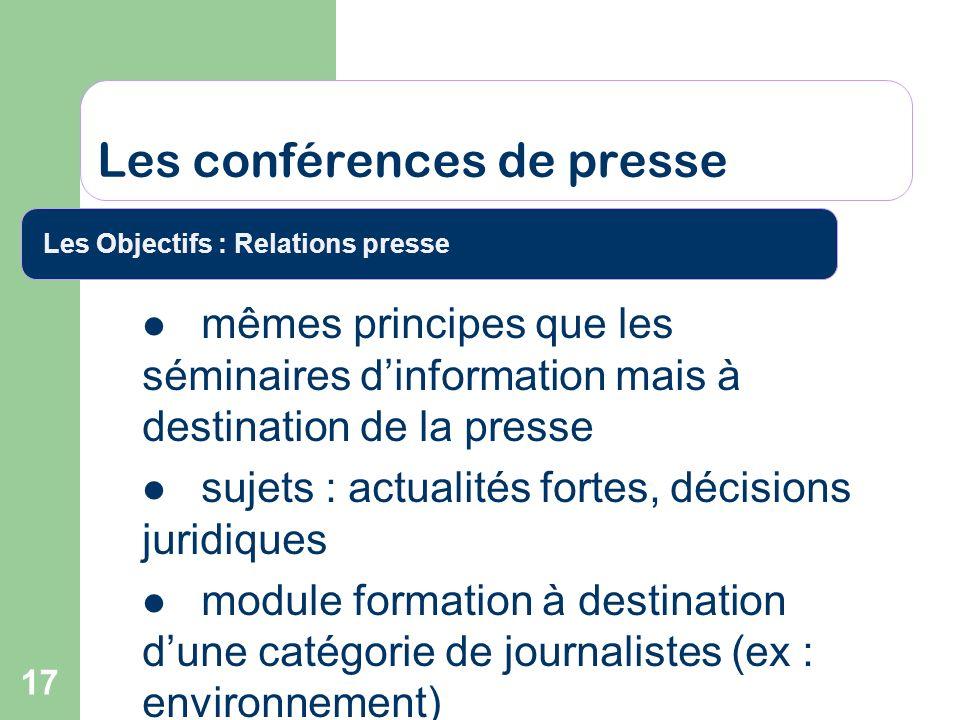 Les conférences de presse
