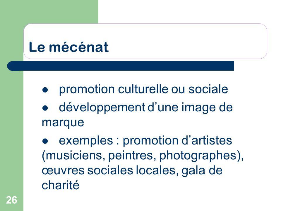 Le mécénat promotion culturelle ou sociale