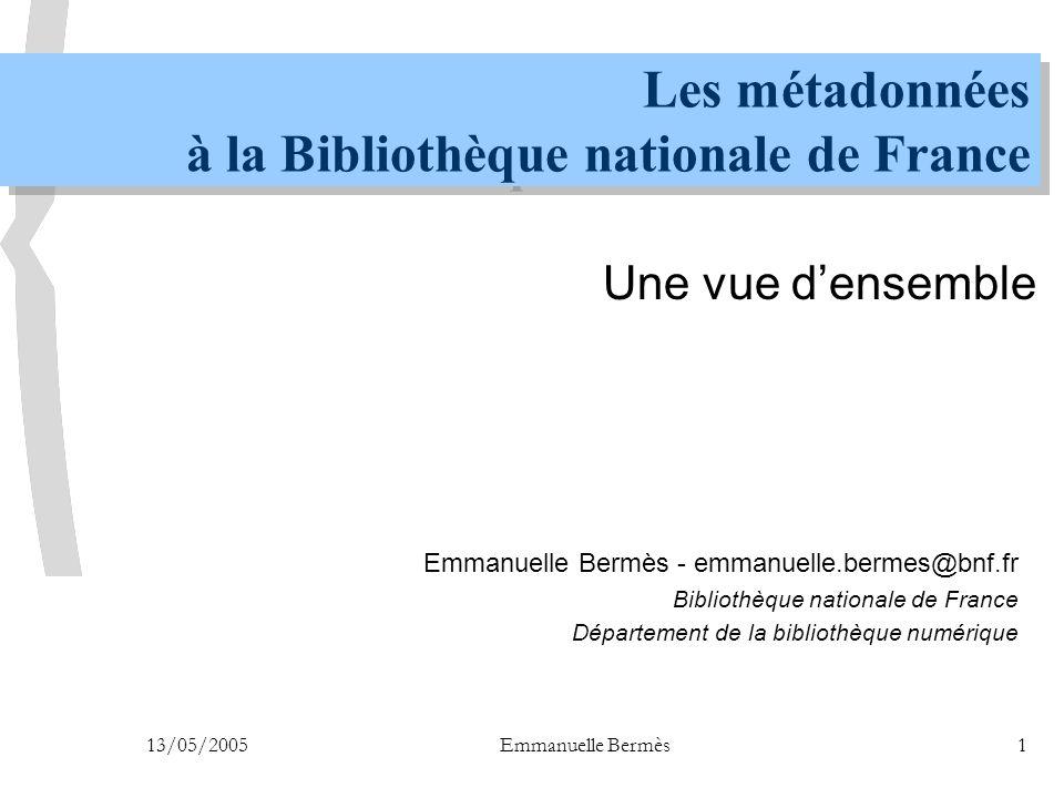 Les métadonnées à la Bibliothèque nationale de France