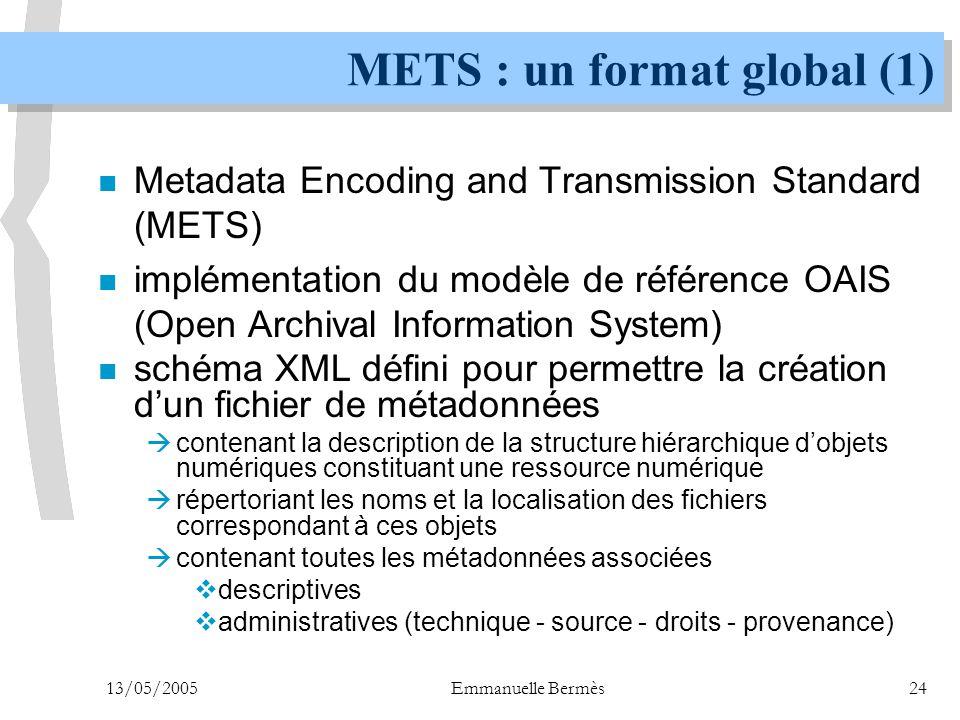 METS : un format global (1)