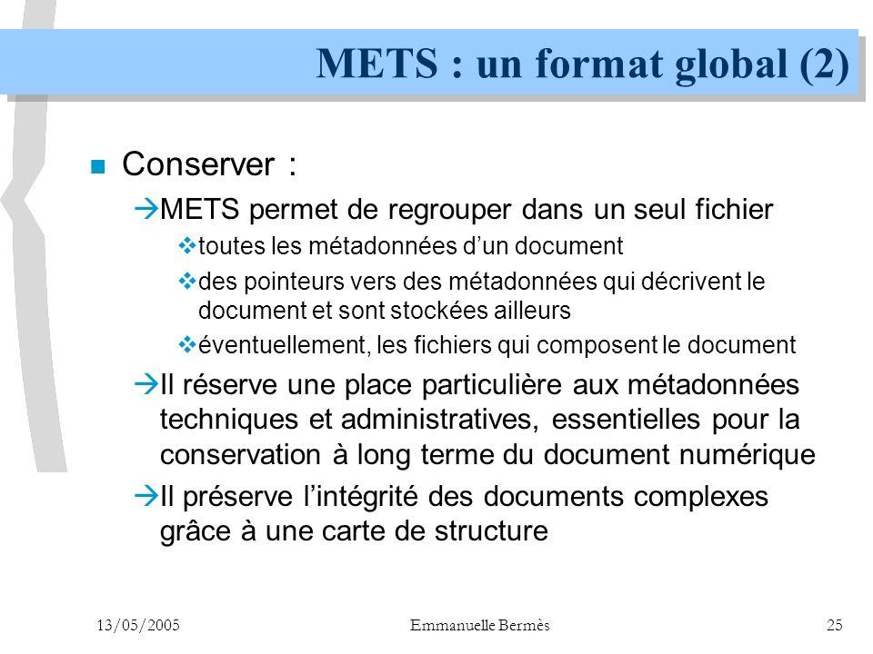 METS : un format global (2)