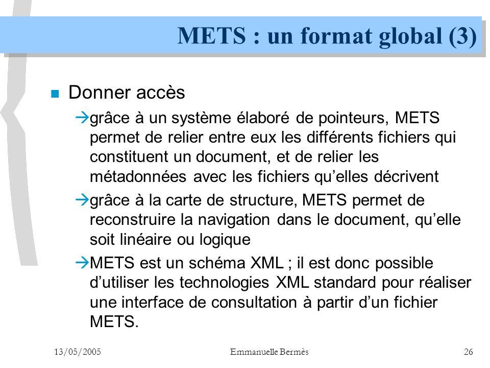 METS : un format global (3)
