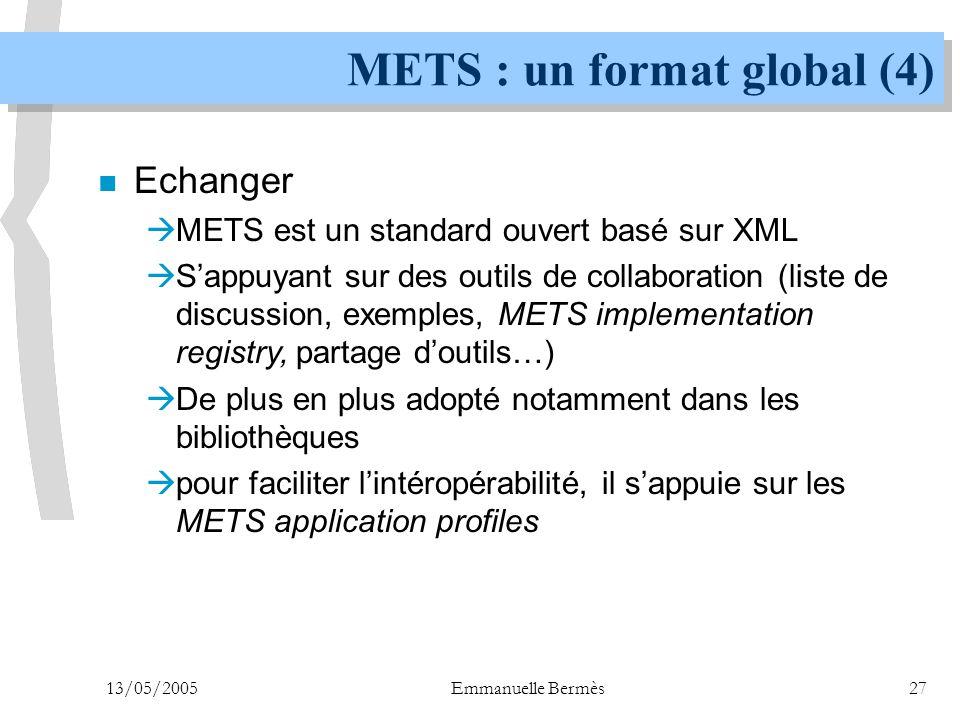 METS : un format global (4)