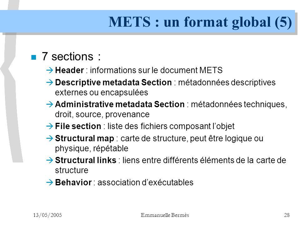 METS : un format global (5)