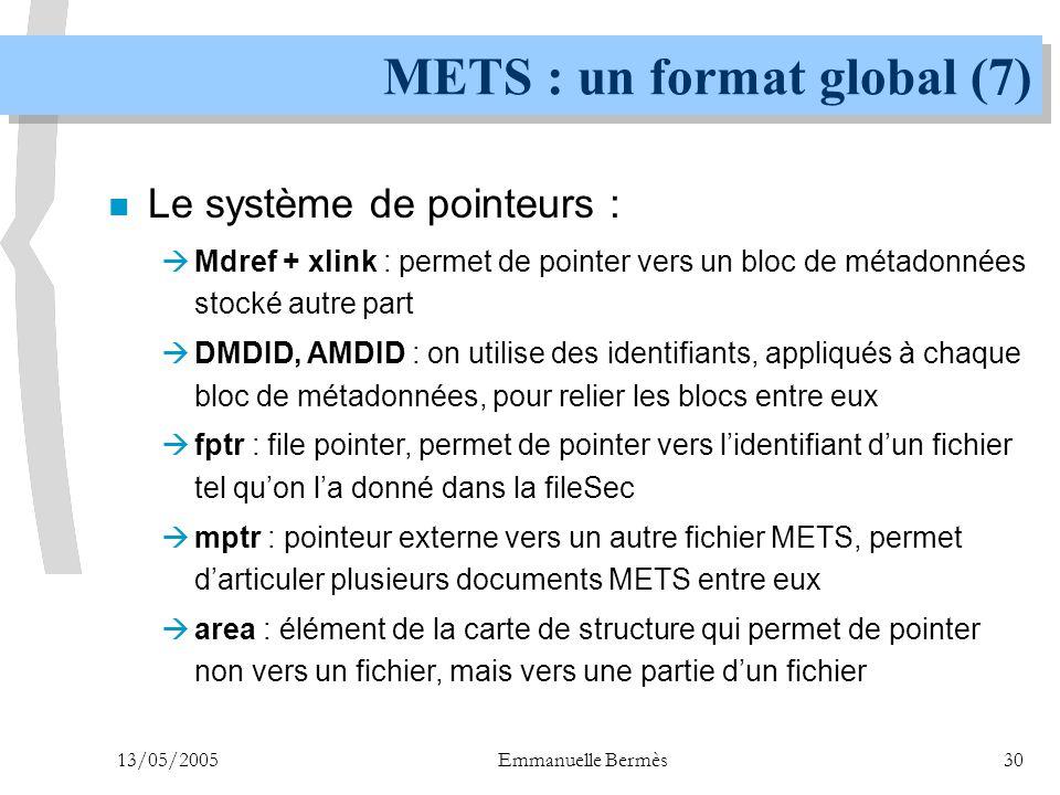 METS : un format global (7)