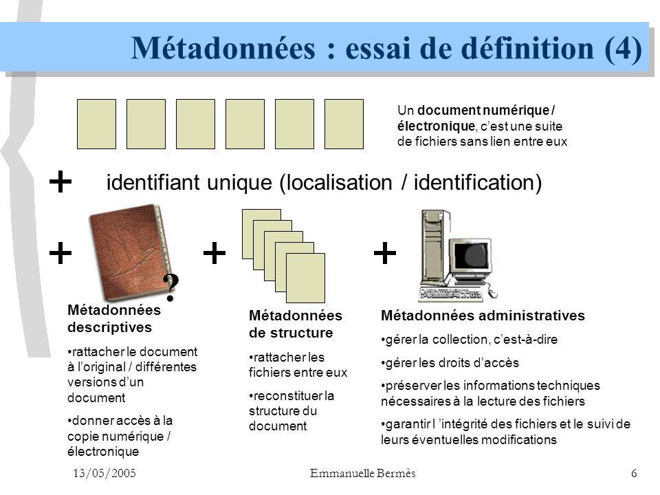 Métadonnées : essai de définition (4)
