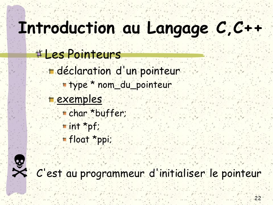 Introduction au Langage C,C++