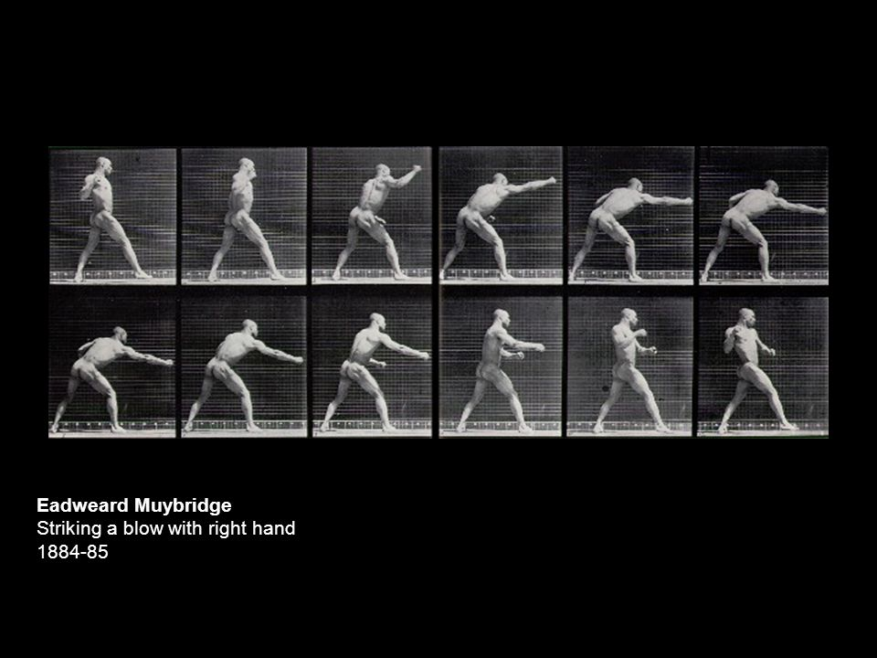 Eadweard Muybridge Striking a blow with right hand 1884-85