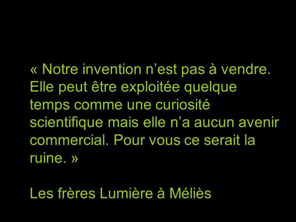 « Notre invention n'est pas à vendre