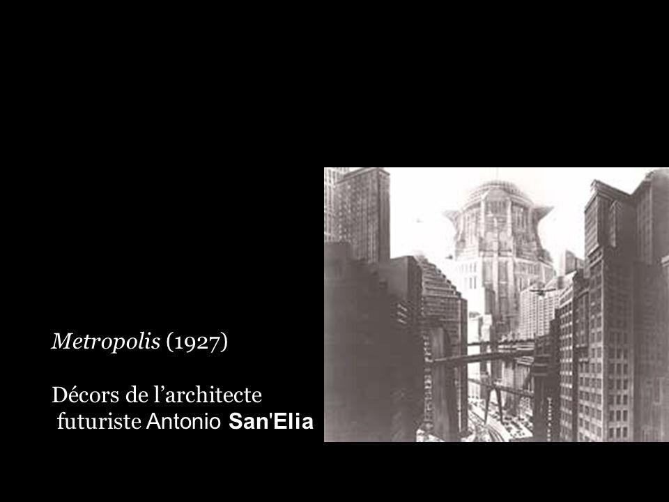 Metropolis (1927) Décors de l'architecte futuriste Antonio San Elia