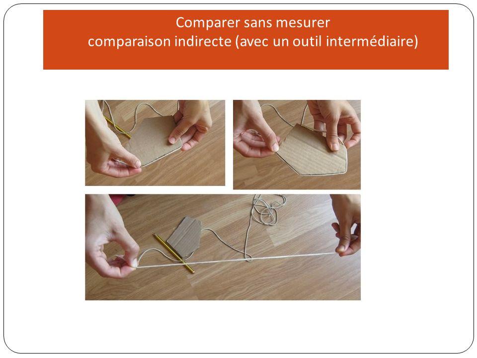 La comparaison avec un objet intermédiaire