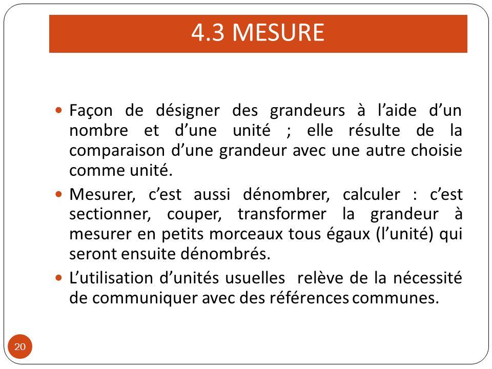 4.3 MESURE