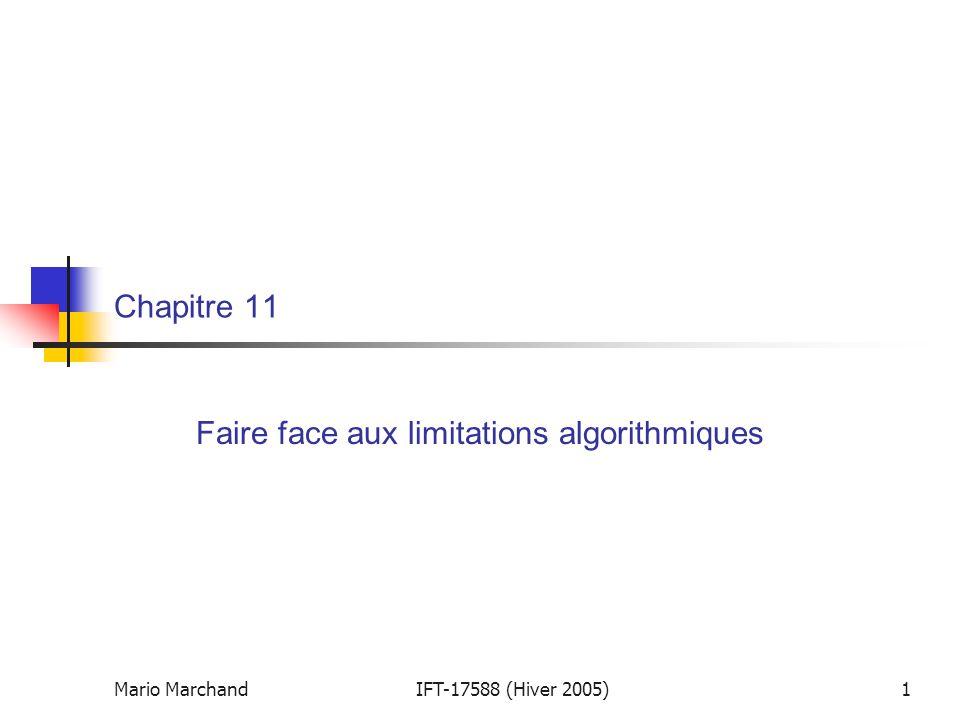 Faire face aux limitations algorithmiques