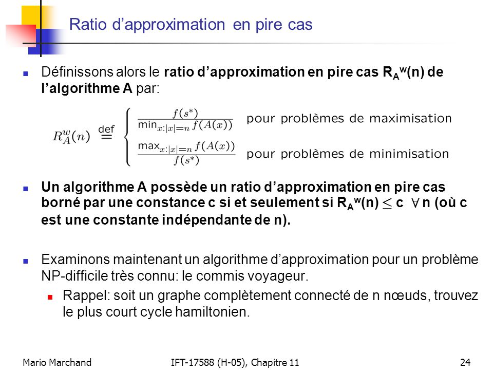 Ratio d'approximation en pire cas