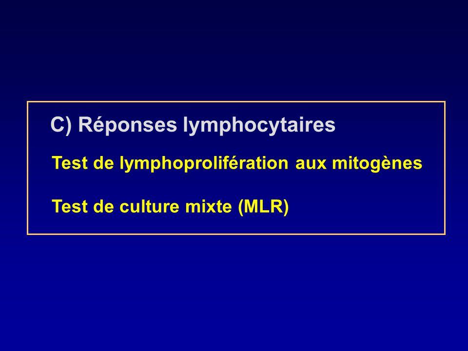 C) Réponses lymphocytaires