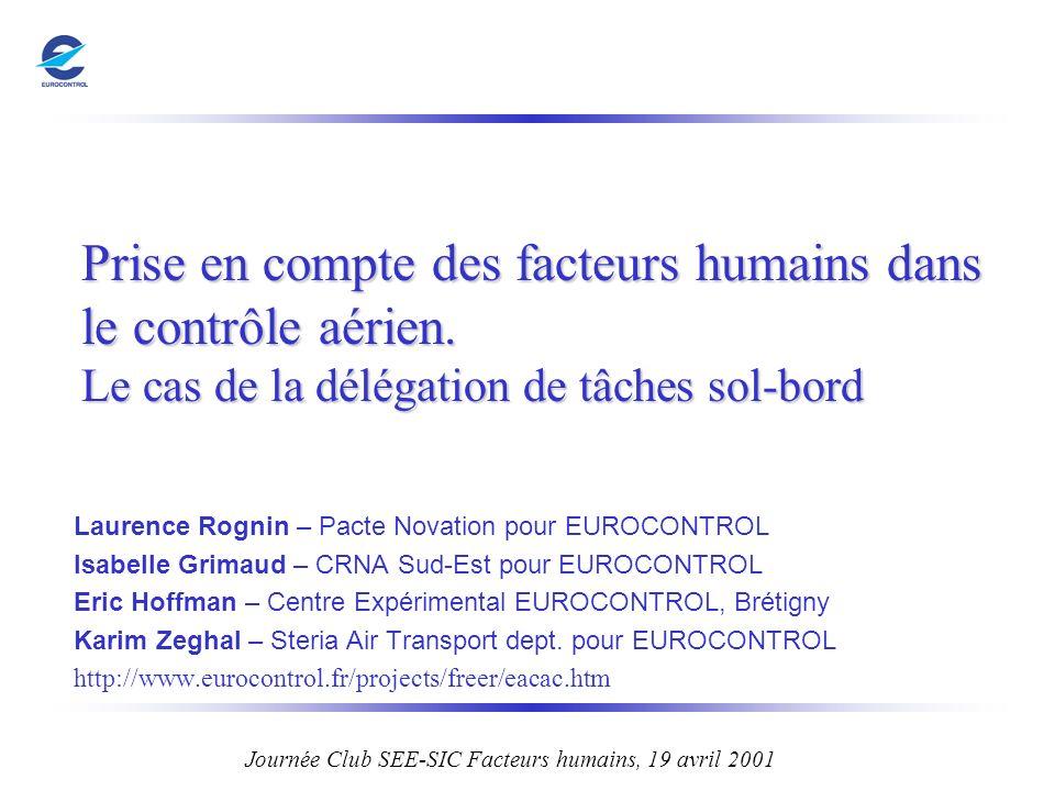 Journée Club SEE-SIC Facteurs humains, 19 avril 2001