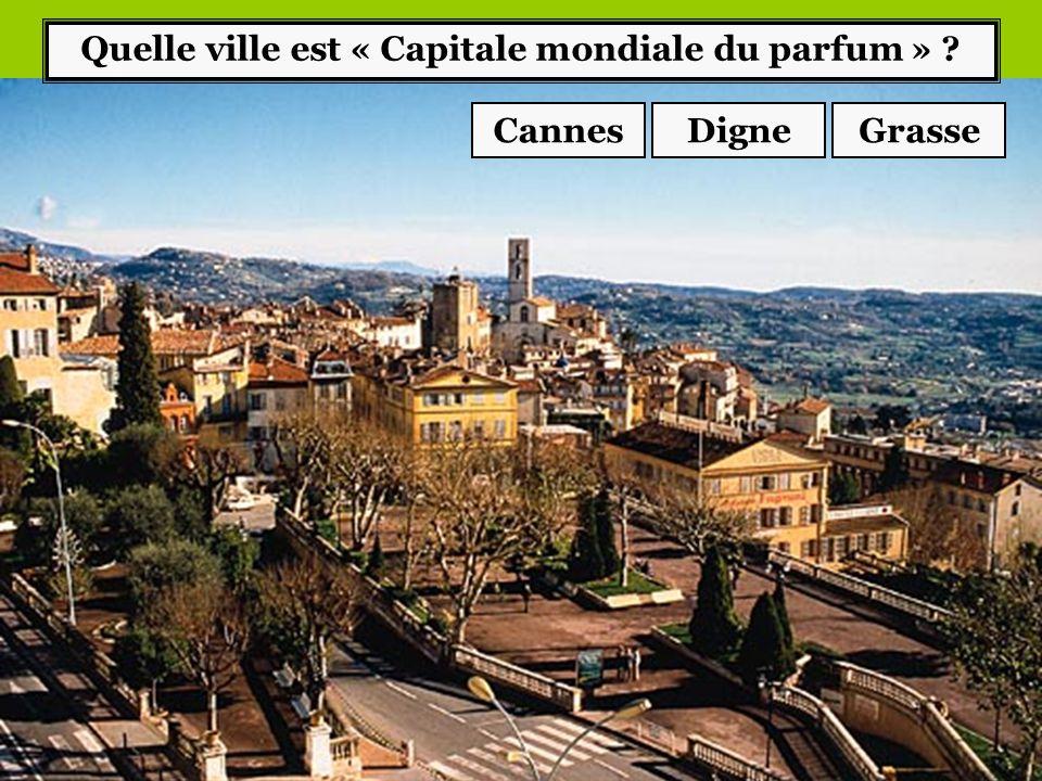 Quelle ville est « Capitale mondiale du parfum »
