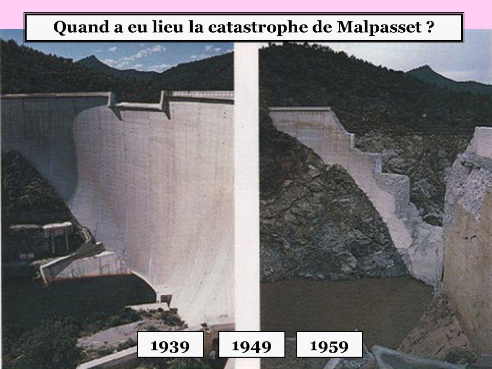 Quand a eu lieu la catastrophe de Malpasset