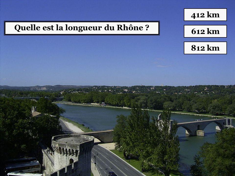 Quelle est la longueur du Rhône