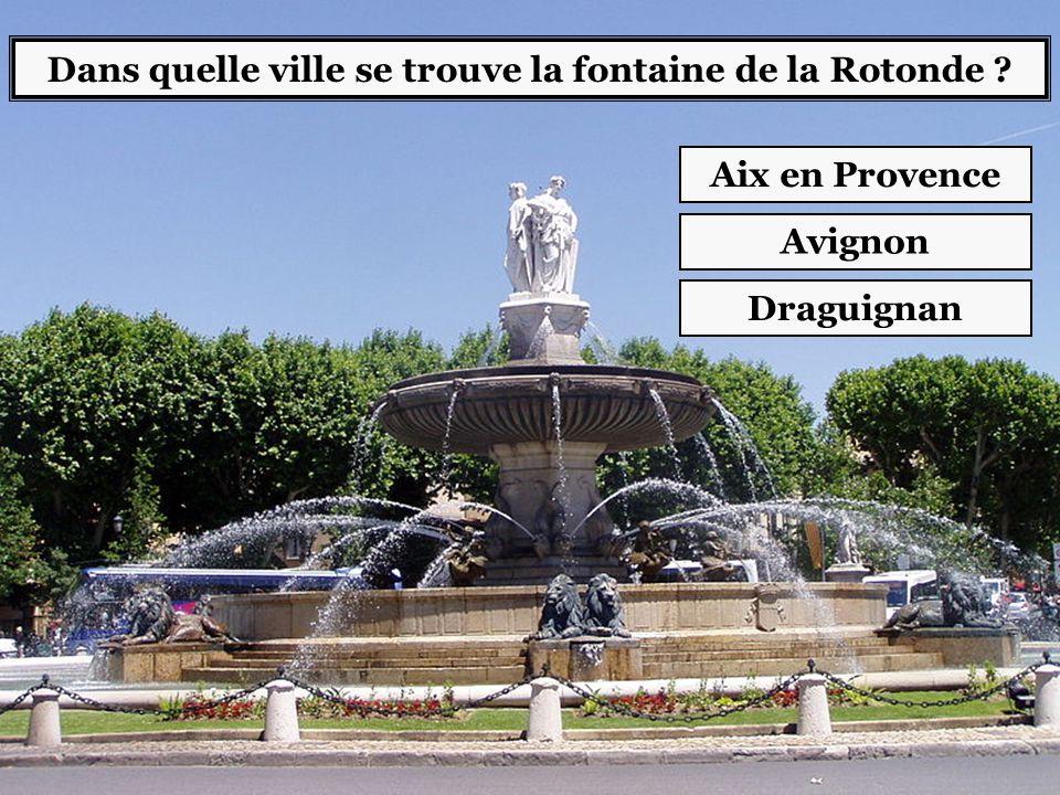 Dans quelle ville se trouve la fontaine de la Rotonde