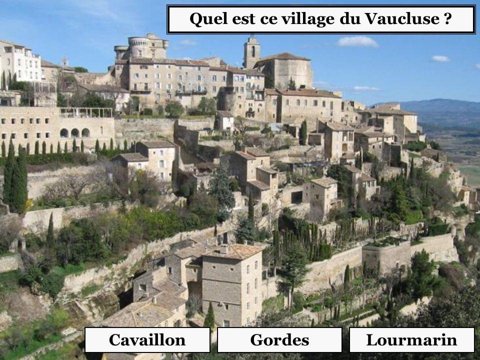 Quel est ce village du Vaucluse