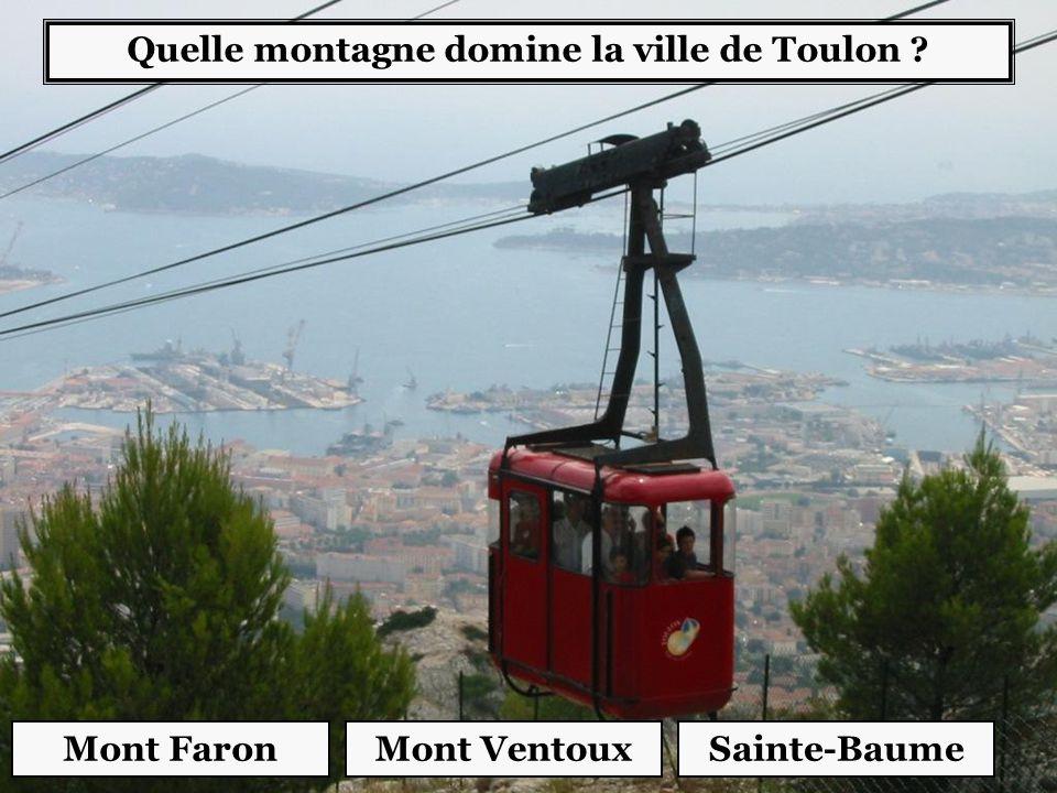 Quelle montagne domine la ville de Toulon