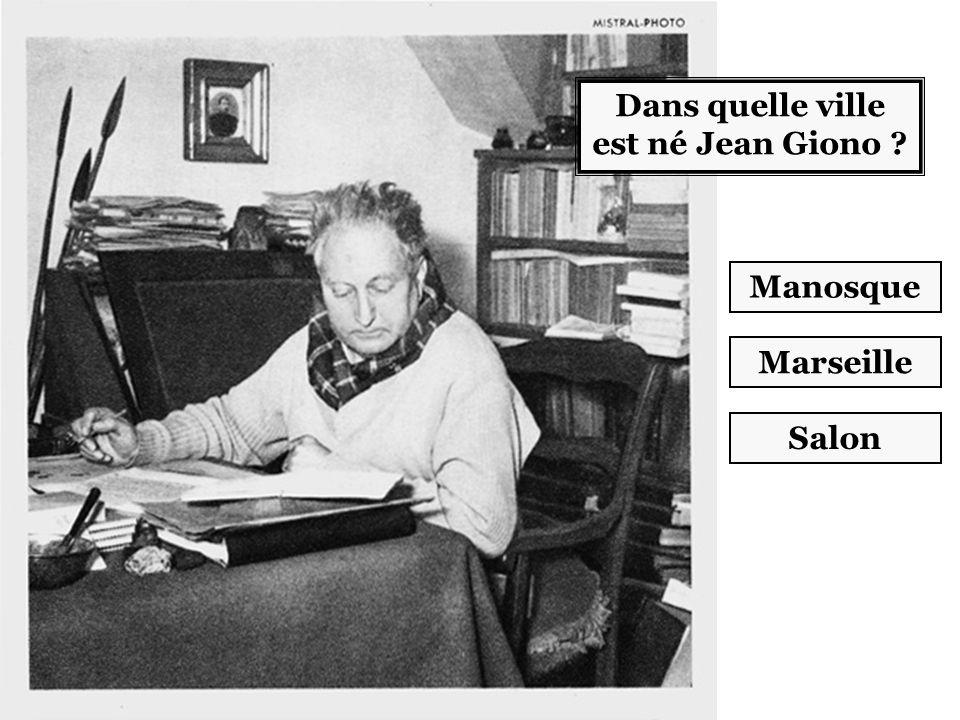 Dans quelle ville est né Jean Giono