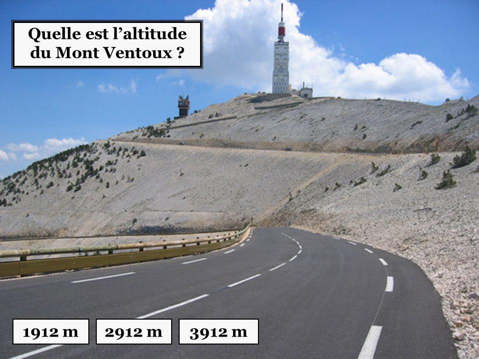 Quelle est l'altitude du Mont Ventoux