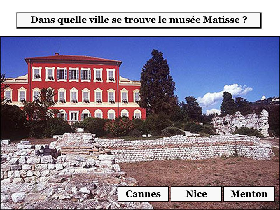 Dans quelle ville se trouve le musée Matisse