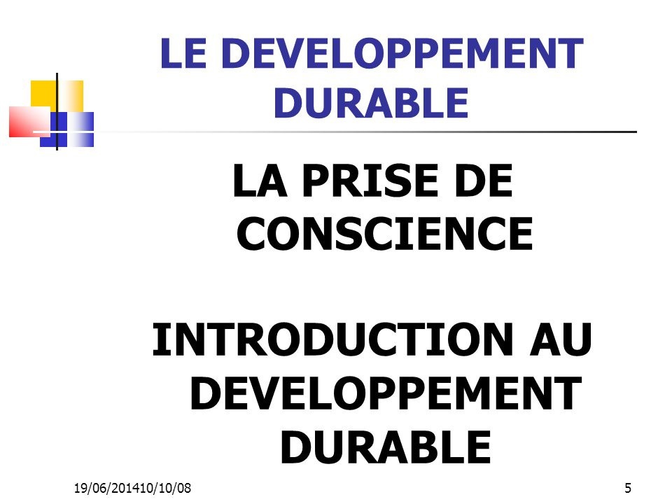 LE DEVELOPPEMENT DURABLE INTRODUCTION AU DEVELOPPEMENT DURABLE