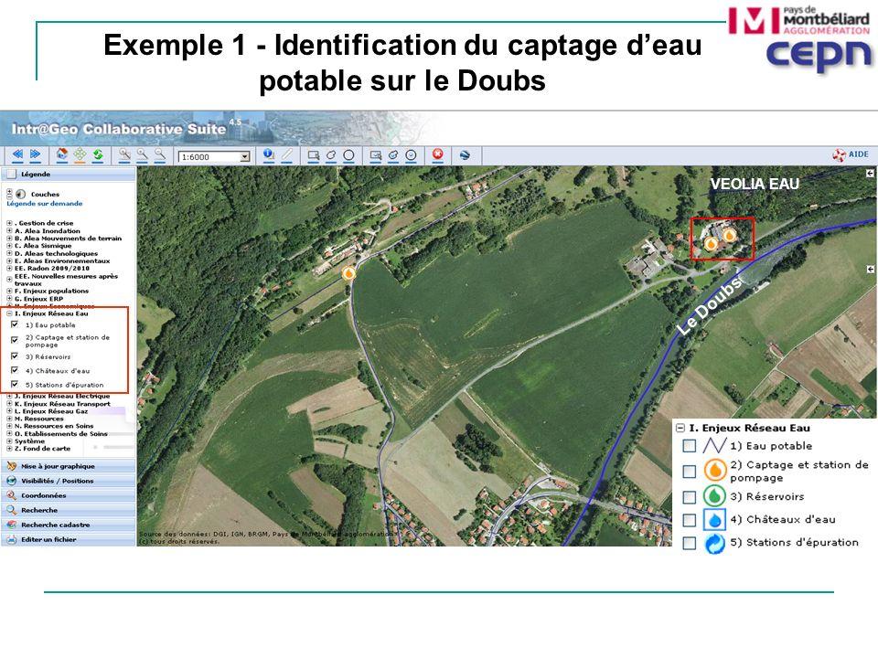 Exemple 1 - Identification du captage d'eau potable sur le Doubs
