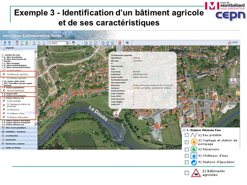Exemple 3 - Identification d'un bâtiment agricole et de ses caractéristiques