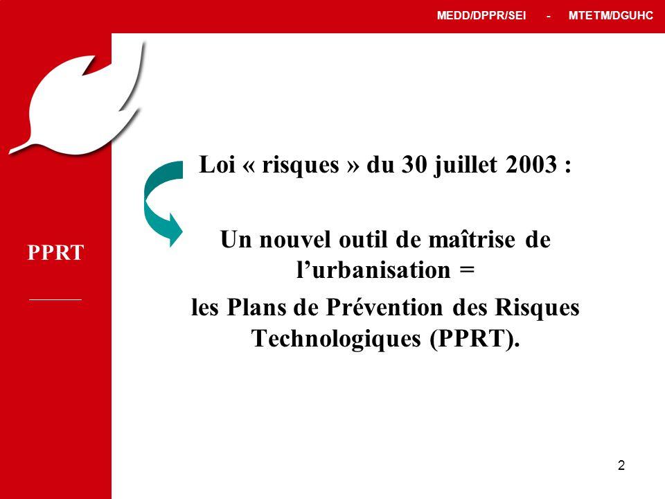 Loi « risques » du 30 juillet 2003 :