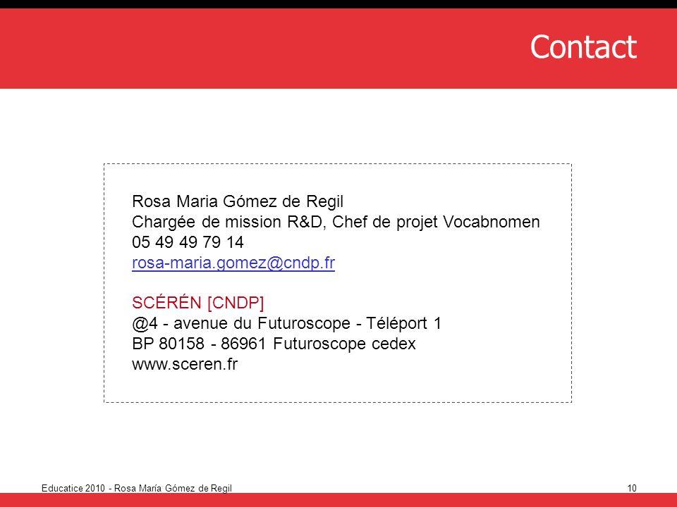 Contact Rosa Maria Gómez de Regil