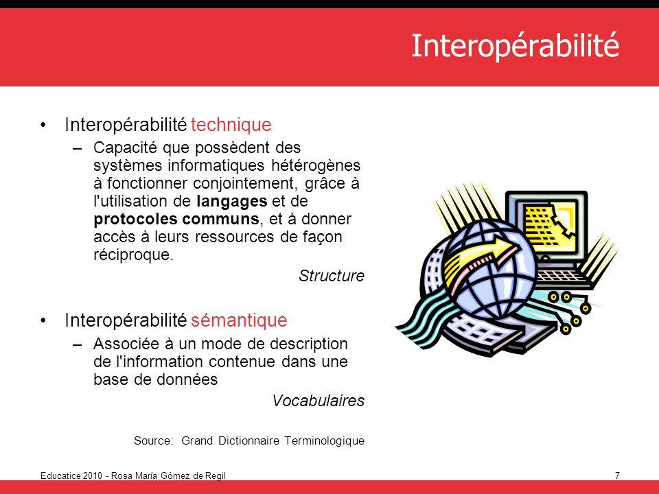 Interopérabilité Interopérabilité technique
