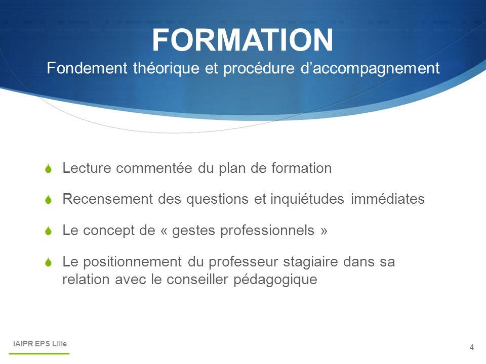 FORMATION Fondement théorique et procédure d'accompagnement