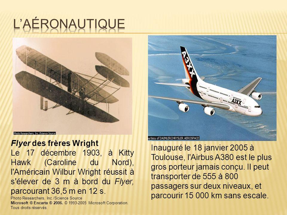 L'aéronautique Flyer des frères Wright